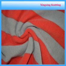 anti-pilling polar fleece stripe printed