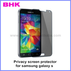 9H silicone coating best touching privacy screen protector for samsung galaxy s,privacy switchable glass film