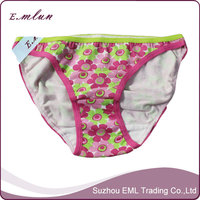 Flower print cotton girls mini cotton panties