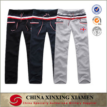 Custom Cotton Polyester Men Sweat Pants joggers With Flag Printed Gym Joggers