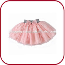 Venta caliente de color rosa de encaje las mujeres tutu vestido pggd- 2672