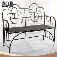 Cheap wrought iron vintage park decoration benches