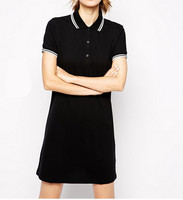 2015 women fashion short sleeve Polo Shirt Dress