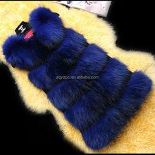 2015 newest brief design raccoon fur sleeveless jacket