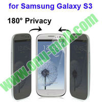 180 Degree for Samsung Galaxy S3 Privacy Screen Protector With Anti Glare, Anti-ultraviolet Function