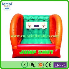 2015 Enjoy Commercial Inflatable Basketball Bouncer, Double Hoop Basketball Game, inflatable jump shot