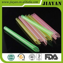 colorful disposable plastic JUMBO straight straws