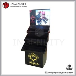 point of sale tiers corrugated paper floor display with LCD screen
