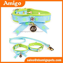 Amigo pet training products bow tie dog collar and leash set