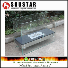 Free standing stainless steel black gel stove/alcohol stove