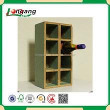 natural pine wood wine racks,wine wall shelf accept OEM