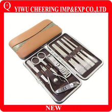 Personal Care Cheap Stainless Steel Accessories Leather Case for Manicure and Pedicure Set