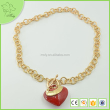 Fashion Red Large Stone Necklaces 2012