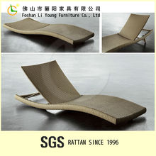 High Quality Simple New Design Product Waterproof Garden Furniture Aluminium Outdoor Foldable Sun Lounger/Rattan Chaise Lounge