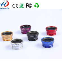 fisheye lens mobile phone camera lens 3 in1 for samsung galaxy s4 mini