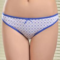 Cute printed comfortable cotton thong underwear high quality women thong ladies panties biniki g-string