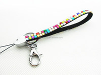 Custom wholesale rhinestone bling keychain with various color