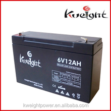 SEALED MAINTENANCE FREE RECHARGEABLE STORAGE VRLA AGM BATTERY 6V 12AH