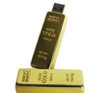 Original Golden Bar Fashion 4GB 8GB 16GB 32GB USB Flash Drives Udisk