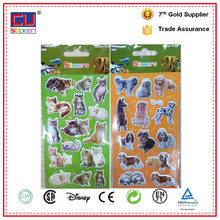 Cute animal labels,high qulity 3D Puffy sticker,kids cute puffy stickers