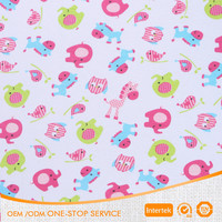 100% cotton double knit print jersey fabric for baby cloth
