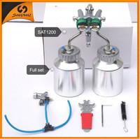 2015 newly high standarded elaborated double nozzle spray gun for chrome spray paint