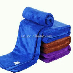 polybag packing double-sided plush personalized car wash towels made in china