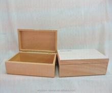Caixa de madeira Natural