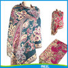 wholesale jacquard wide shawl with tassel