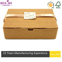 Competitive Price Brown Cube Decorative Paper Cake Box Design