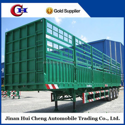 tri axle stake truck trailer/fence semi trailer/store house for sale