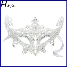 Princess, wrought iron mask of Venice, black metal laser cutting luxurious party mask and flash to reach new black rhinest SC185