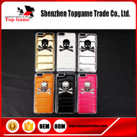 Skull Heads Phone case for iphone 6 , leather case for iphone 6 back cover case