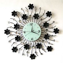 Beautiful Home decor Large 3D funny antique heart shaped wall clock