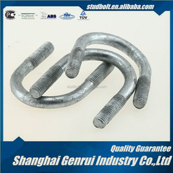 Rubber coated u bolt pipe clamp u bolt with washer and nut