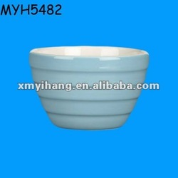 Designed porcelain light blue deep soup bowl