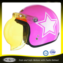 Young Lady open face motorcycle helmet 886