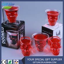 High Quality Glass Doomed Cup Crystal Skull Head Cup