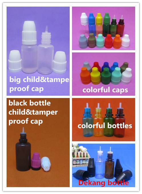 colorful bottles and caps
