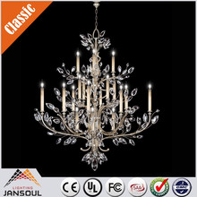 custom made antique gold light chandelier with crystal