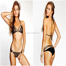popular girl black sexy transparent swimwear bikini