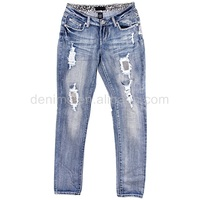711229-A1 beaded ripped wholesale miss me jeans for women