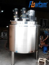 High viscosity fluid mixing tank