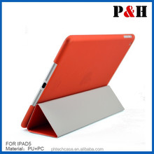 2015 hot sell for ipad air leather smart cover case