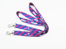 Hot sales Heat transfer printed Sport Lanyard, Dye Sublimation Printing and Customized buckle