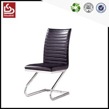 Cheapest modern leather chrome luxury hotel dining room chair