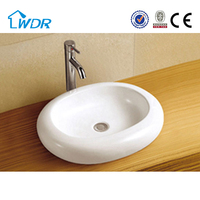 Alibaba modern design above counter mounting bathroom basin