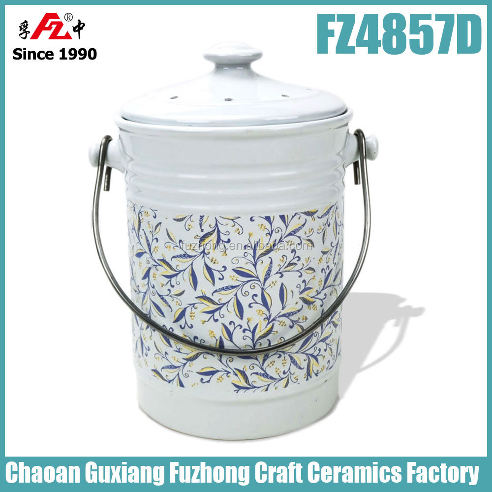 Apple Shape Compost Bin / Compost Pail / Compost Bucket   Buy Compost Pail,Kitchen  Compost Bin,Kitchen Compost Crock Product On Alibaba.com