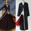 Anime BLEACH Kurosaki ichigo cosplay costumes black cloak
