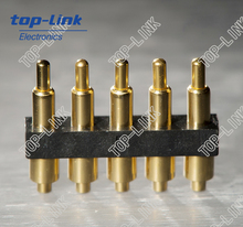2.54mm pitch 5-pin spring loaded pogo pin connector (waterproof)